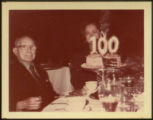 Rudolph Charles Miller and Woman at One Hundredth Birthday Celebration
