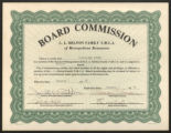 L.L. Melton Family Y.M.C.A. Board of Management Member Certificate
